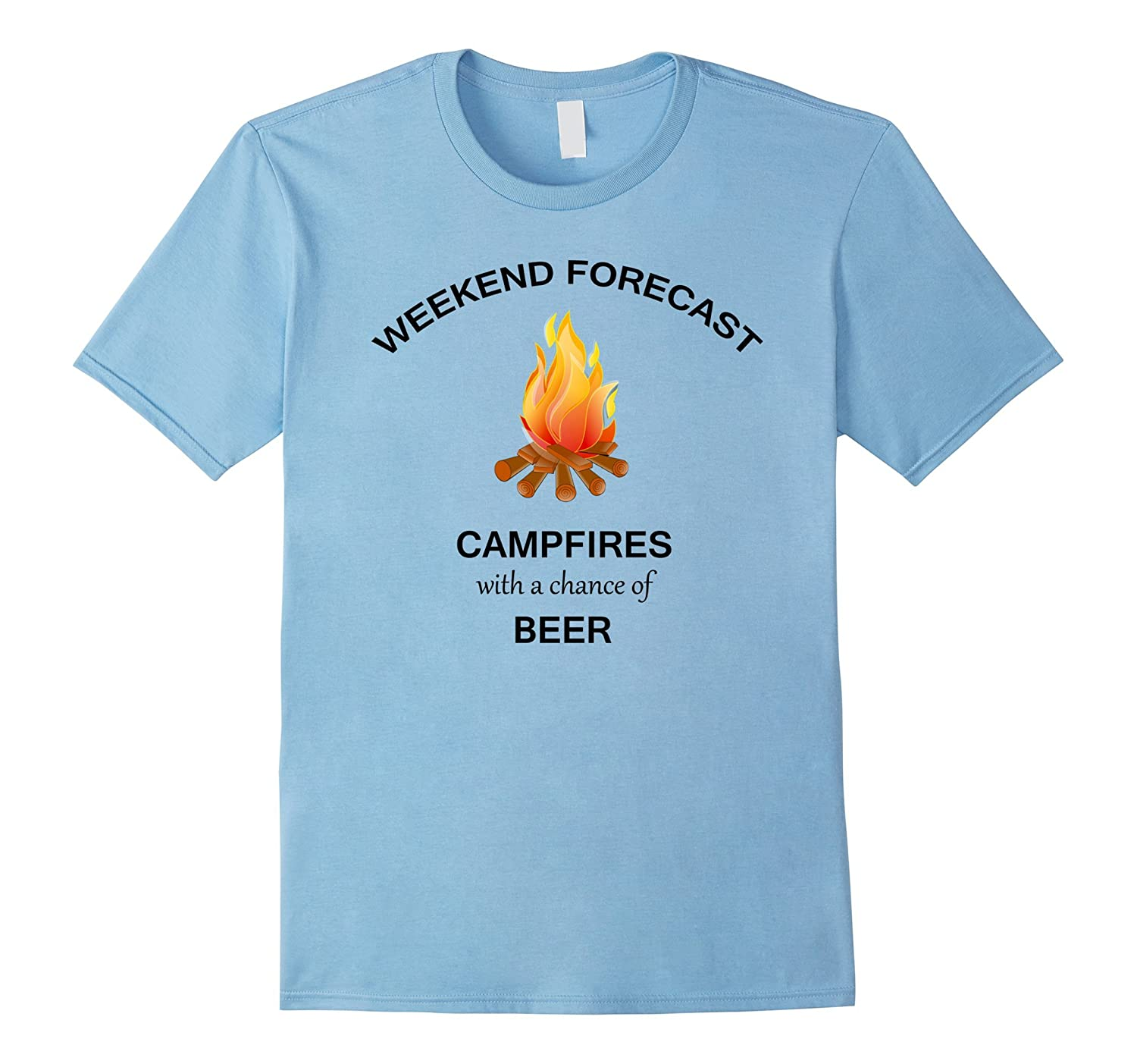 Campfires With a Chance of Beer - Camping T-Shirt-TH
