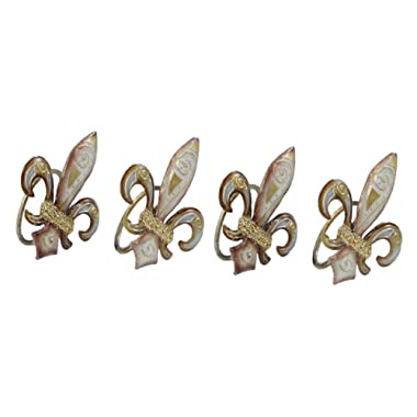 Classic Fleur De Lis Napkin Rings - Set of 4