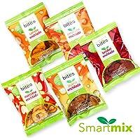 Smart Bites Surtido de Chips Enchiladas, Camote, Jícama, Betabel, Zanahoria y Manzana, 600 g, 20 Piezas