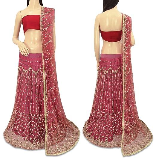 VintageandYou La India de la Vendimia de la Falda Larga Neta ...