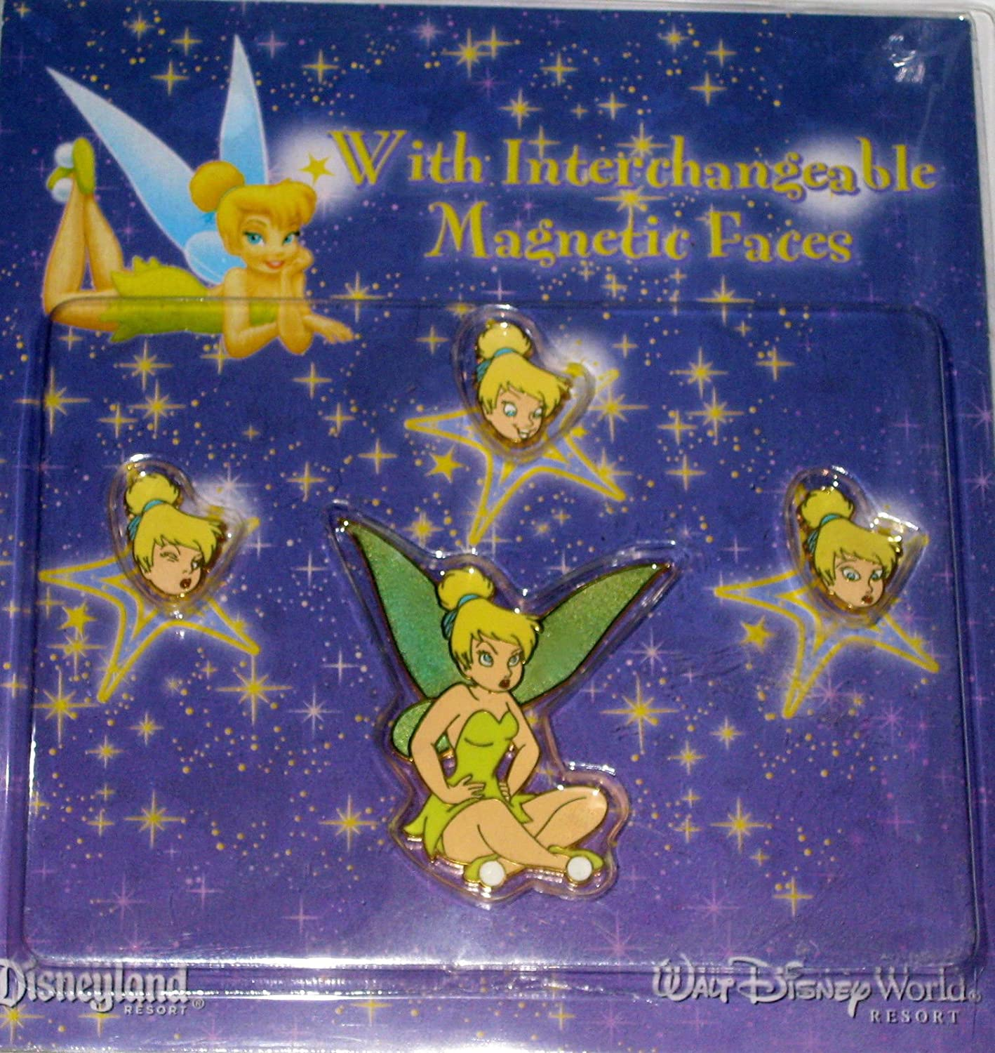 Tinker Bell Interchangeable Magnetic Faces Pin Set Disney Pin