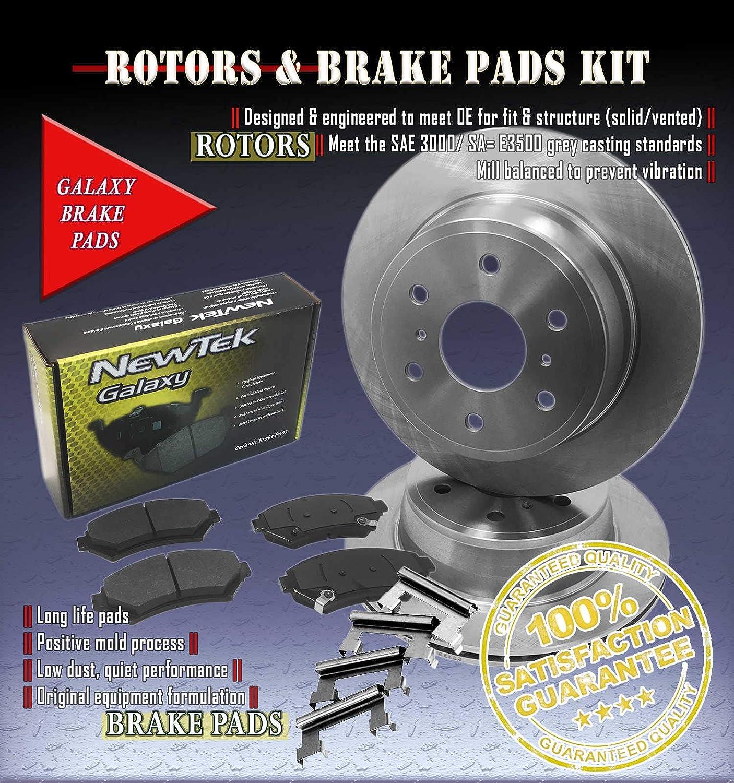 DK1077-1 Front Brake Rotors and Ceramic Pads and Hardware Set Kit