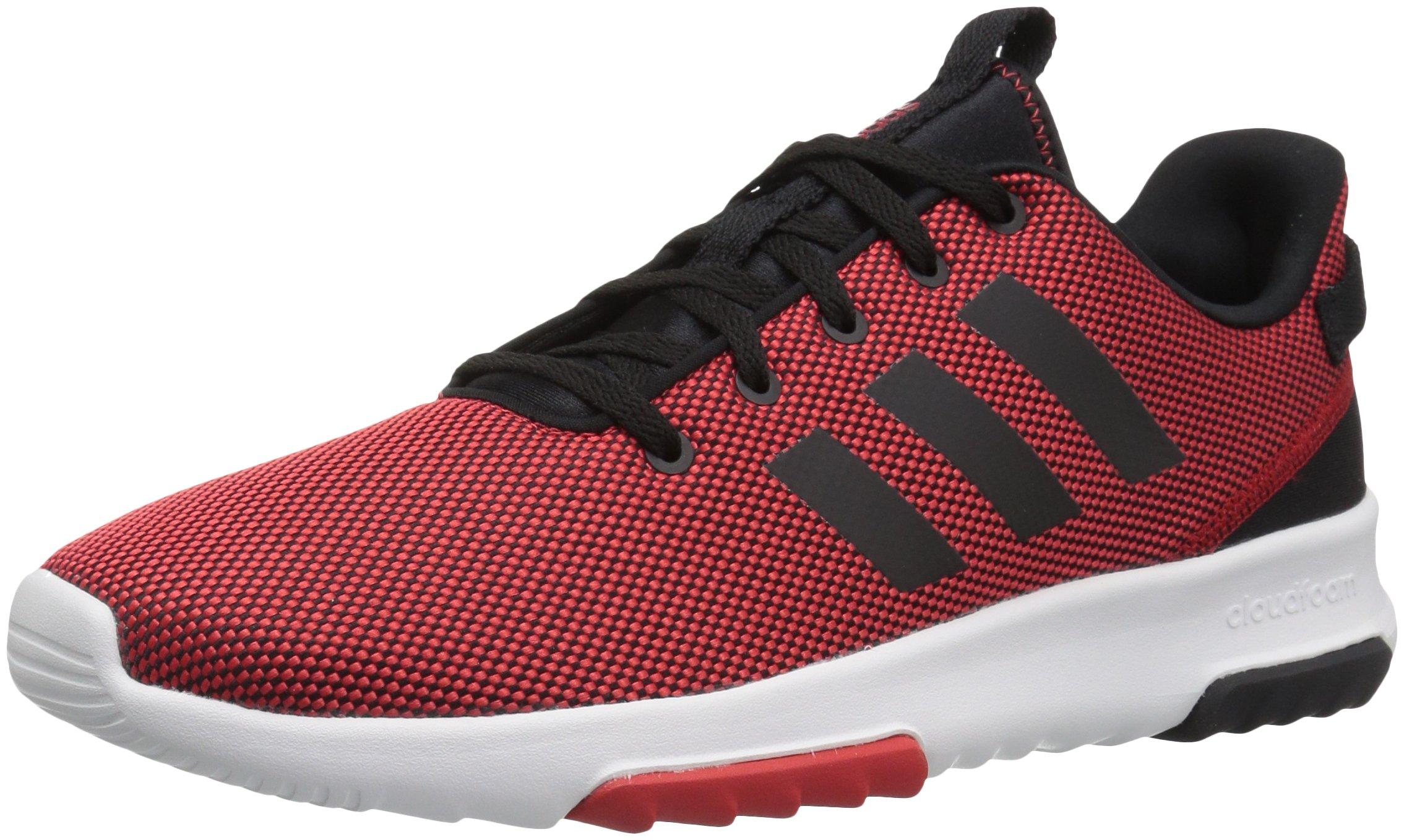 adidas Men's CF Racer TR Running Shoe, Scarlet/Black/White, 4.5 Medium US