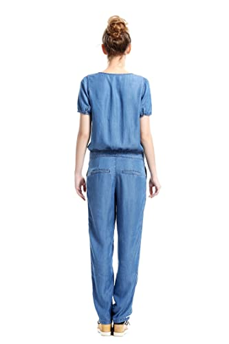 Amazon.com: Escalier Women's Loose Long Sleeve Denim Romper Jumpsuits:  Clothing