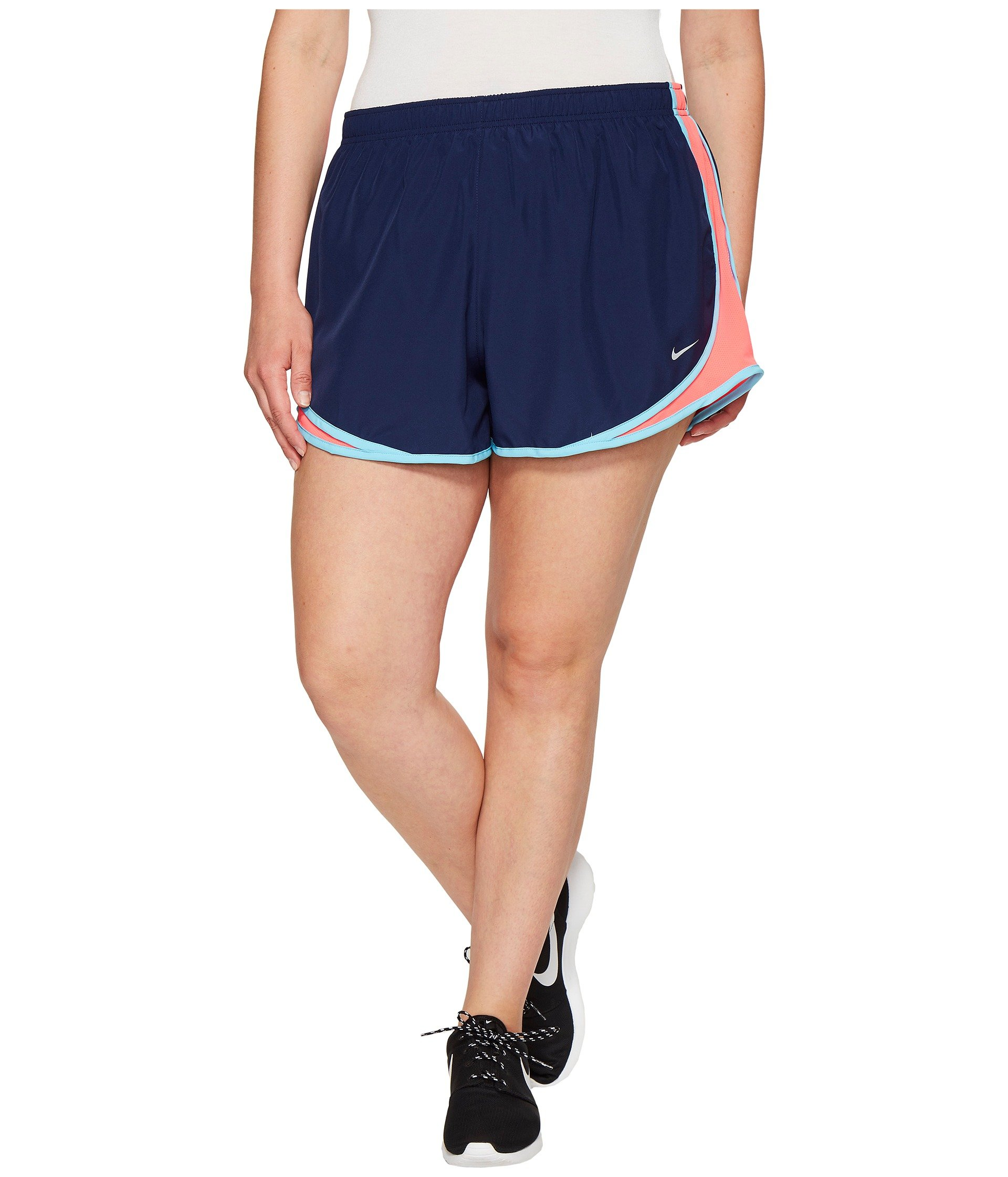 Nike Women's 3'' Plus Size Dry Tempo Running Shorts (Blue Racer Pink, 3X 3) by Nike