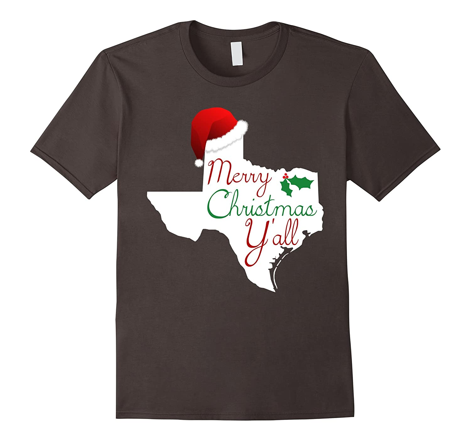 2fad043f Texas Christmas Shirt - Merry Christmas Y'all Texas XMas Tee-FL ...