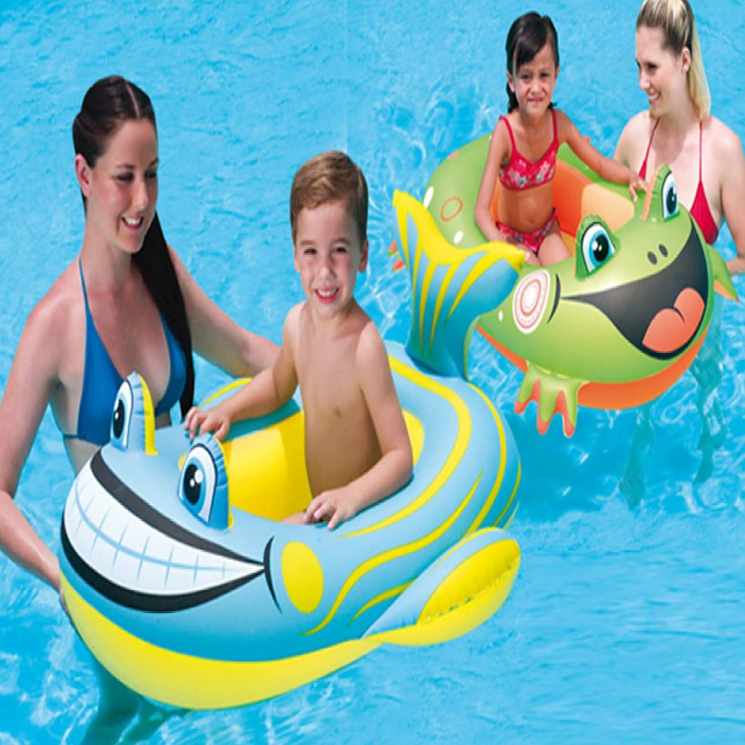 BESTWAY INFLATABLE CLOWN FISH BOAT FLOAT SWIMMING POOL TOYS BEACH LOUNGER LILO RAFT 34085