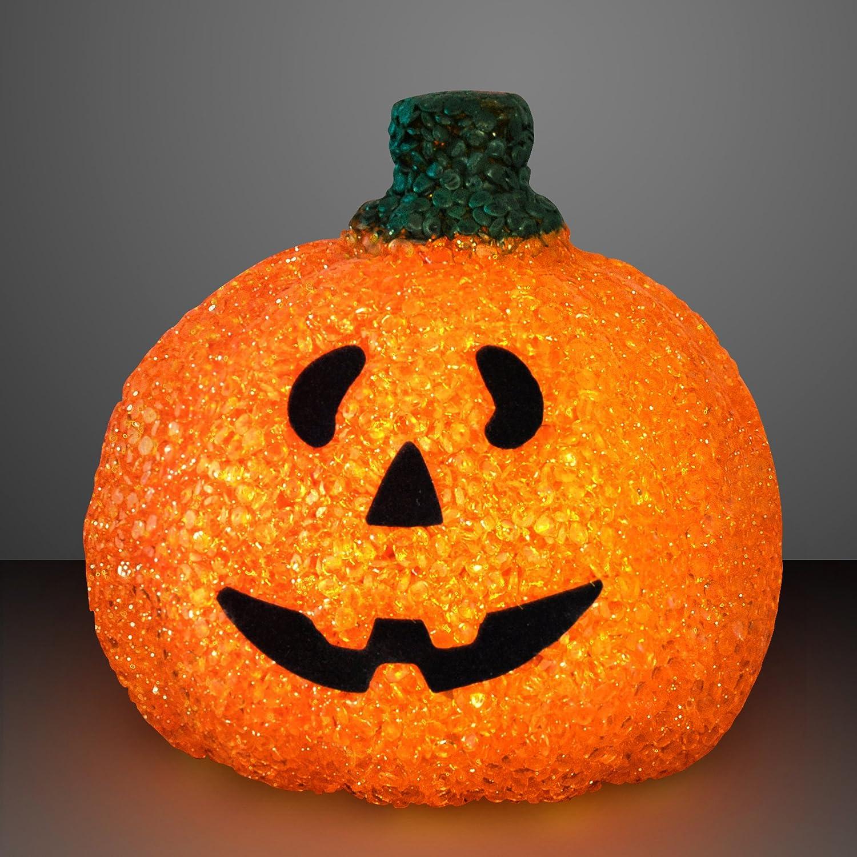 Jack O Lantern Amazoncom Light Up Happy Jack O Lantern Pumpkin Decoration Toys