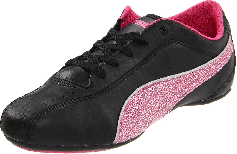 Puma Tallula Glam Jr Dance Shoe (Little Kid/Big Kid)  6 M US Big Kid|Black/Fandango Pink/Puma Silver