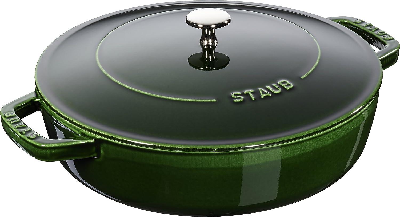 Staub 40511478/0Basil with Chistera Cast Iron Round Casserole, 28cm