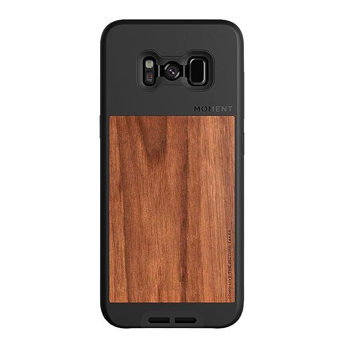 buy online d53ff 2df0b Amazon.com: Galaxy S8+ Case || Moment Photo Case in Walnut Wood ...