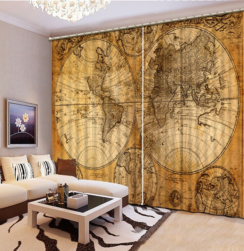 Sproud 3D Printing Curtains Lifelike Room Decorations Blackout Cortians Beautiful Full Light Shading Bedroom Livng Room Curtain 240Dropx300Wide(Cm) 2 pieces
