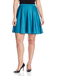 7520c3fc8e0 Star Vixen Women s Plus-Size Short Skater Skirt