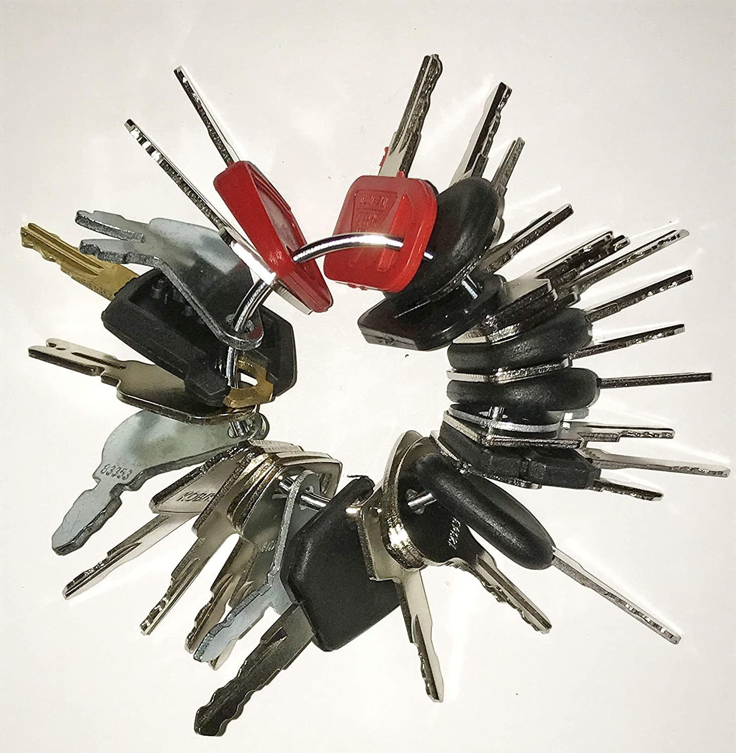 Keyman 30 Keys Heavy Equipment 30 Key Set/Construction Ignition Keys Set