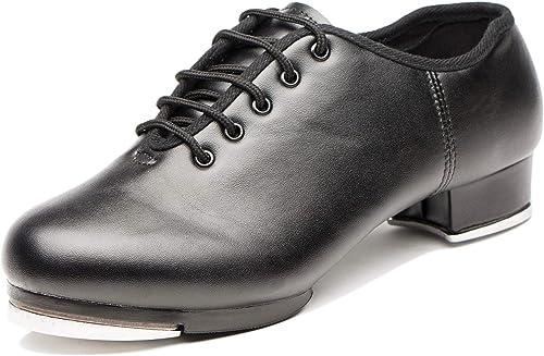 Joocare Womens Black Leather Split Sole Jazz Dance Boots Shoes Adult//Unisex for Big Kid