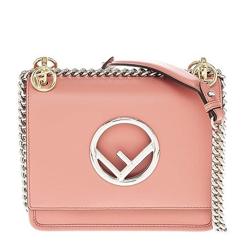 Fendi bolsos con asas largas para compras mujer en piel nuevo kan I piccola logo: Amazon.es: Zapatos y complementos