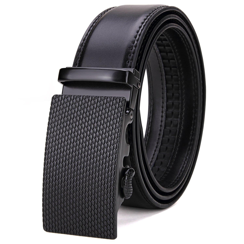 Tonly Monders Men's 35mm Dress Leather Ratchet Belt