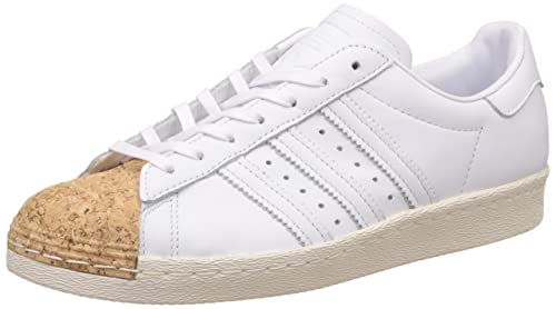 825e85dc619 adidas Originals Women s Superstar 80S Cork W Ftwwht and Owhite Leather  Sneakers - 6 UK