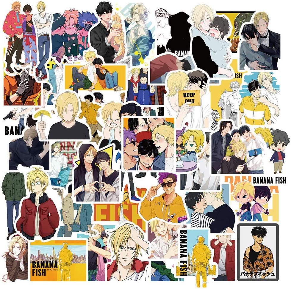 10//50 pz Anime giapponese Banana Fish Sticker Retro Home Decor Graffiti Sticker PVC Zaino Bottiglia Bike Impermeabile Car Decal