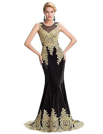 d1b49527345cf GRACE KARIN Robe de Soirée Maxi Femme Sexy Elegant Forme Sirène avec ...