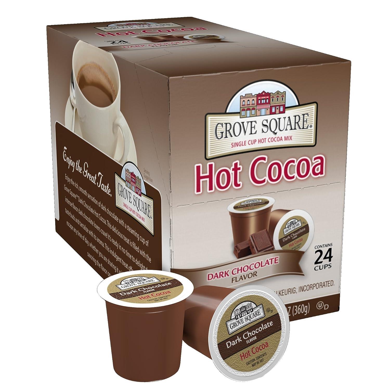 Amazon.com : Grove Square Hot Cocoa, Dark Chocolate, 24 Single ...
