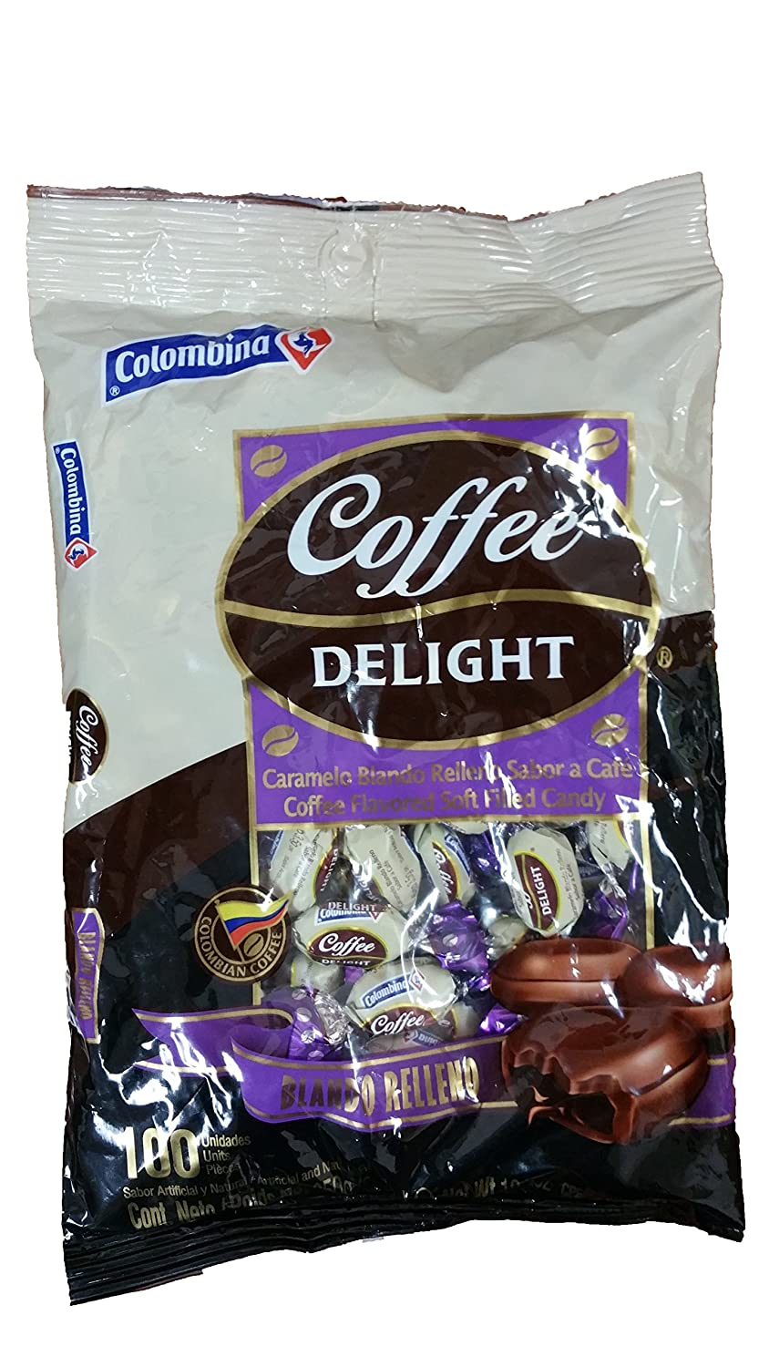 Amazon.com : Coffee Delight Caramelo Blando Relleno Con sabor a Café /Coffee Flavored Soft Filled Candy : Grocery & Gourmet Food