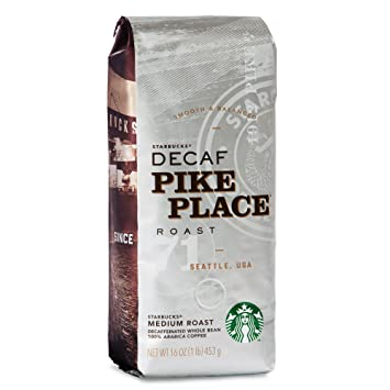 Pikes Peak Coffee >> Amazon Com Starbucks Decaf Pike Place Roast Whole Bean Coffee