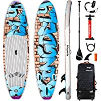 Kingdely Inflatable Stand Up Paddle Board, Comes with Durable SUP Accessories & Portable Carry Bag, Non-Slip Deck, Leash…