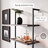 Nathan James 65801 Theo Industrial Bookshelf with