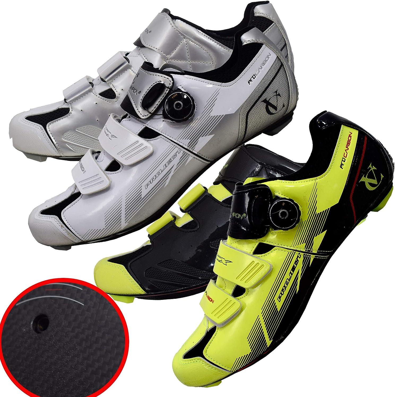 VeloChampion Zapatillas de Ciclismo (par) VCX con Planta de Fibra de Carbono - Cycling Road Shoes: Amazon.es: Deportes y aire libre