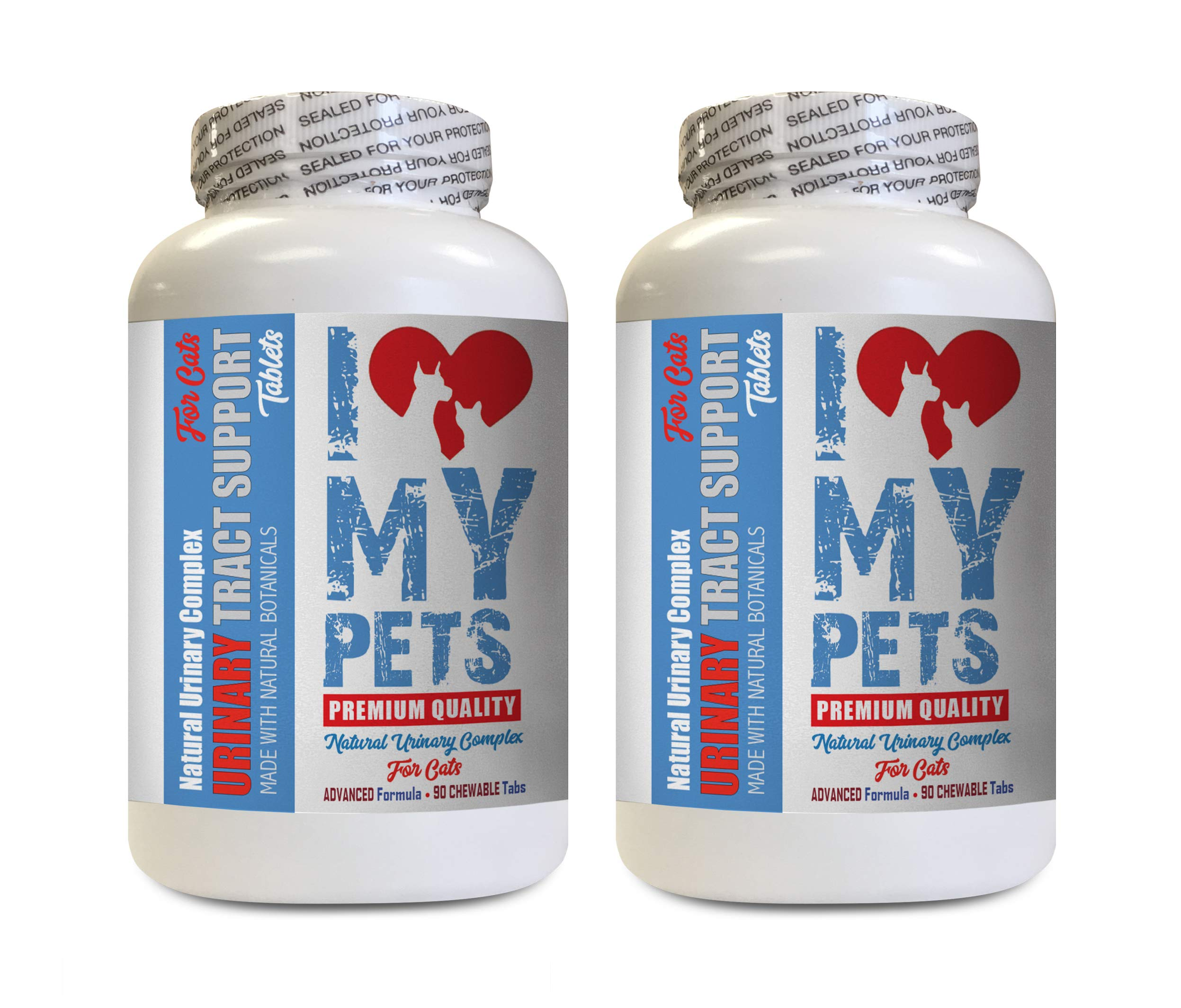 I LOVE MY PETS LLC Urinary Tract Supplements for Cats - CAT Urinary Tract Support - Natural Complex - Premium - Urinary Tract cat Support - 180 Treats (2 Bottles) by I LOVE MY PETS LLC