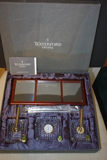 Amazoncom  Waterford Crystal Executive Desk Set Clock Pens