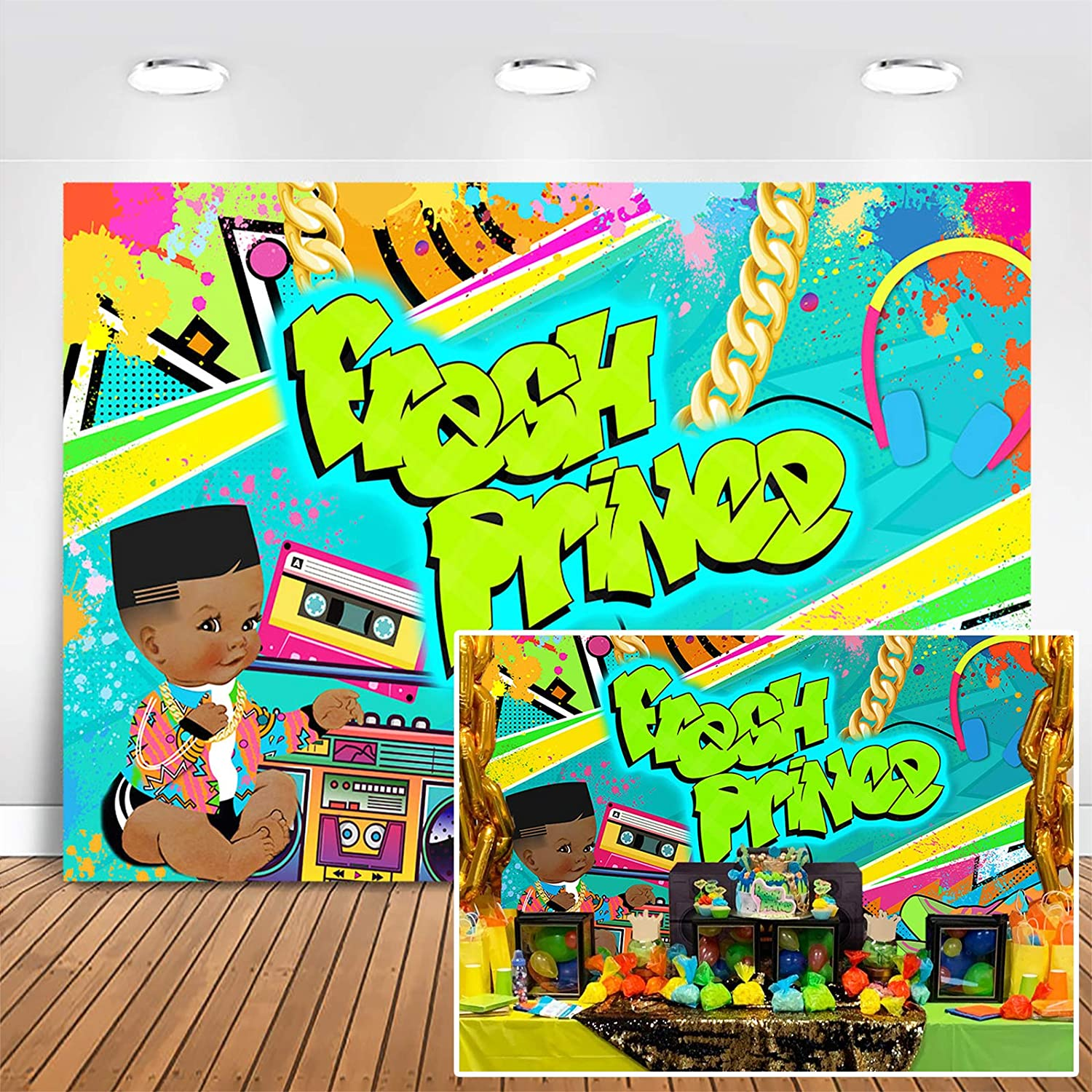 Fresh Prince Digital files Hip Hop Baby Shower Cupcake toppers Birthday 90s party HipHop party GRAFFITI 90s Graffiti hip hop