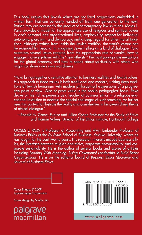 Jewish Ethics as Dialogue: Using Spiritual Language to Re-Imagine a Better World by Palgrave Macmillan