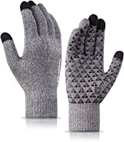 TRENDOUX Winter Gloves for Men Women - Knit Touch Screen, Thermal Warm Lining