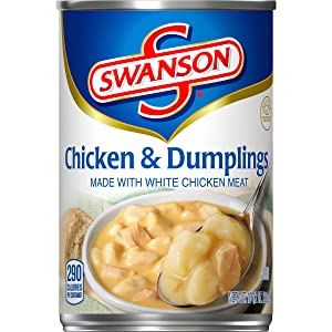 Swanson Chicken & Dumplings Made with White Chicken Meat, 10.5 oz. Can (Pack of 12)