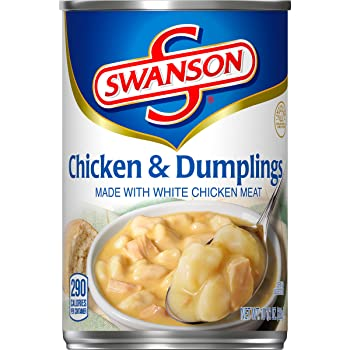 Swanson Chicken & Dumplings Made with White Chicken Meat, 10.5 oz.