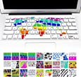 """Allytech Keyboard Cover Silicone Skin for MacBook Pro 13"""" 15"""" 17"""" (with or w/out Retina Display) iMac and MacBook Air 13"""" (World Map)"""