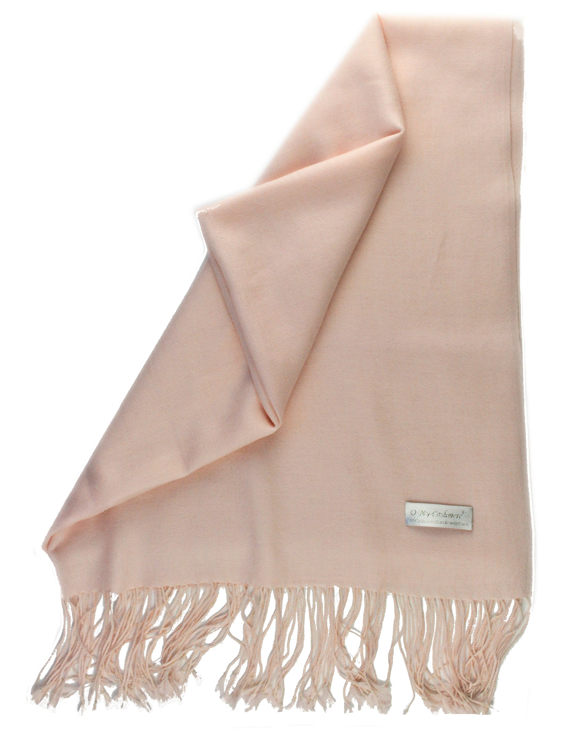 100% Soft Large Cashmere Shawl Scarf Travel Wrap Stole with fringe - Gift Wrapped - Cover blanket Lightweight Tissue Weight Solid Color