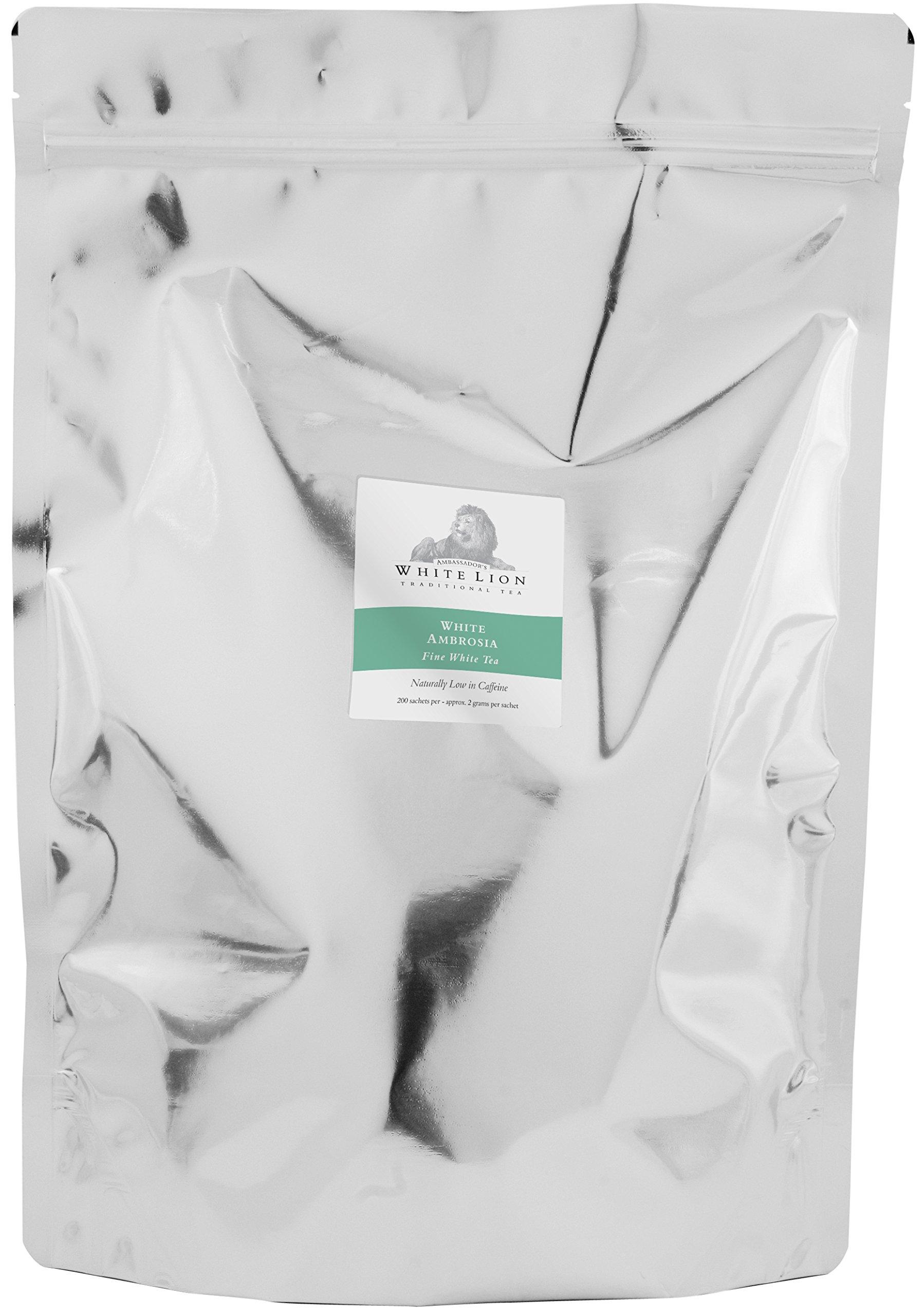 White Lion Limited - White Ambrosia Fine White Tea Bulk Sachets 2-200 Count Case by White Lion Limited (Image #1)