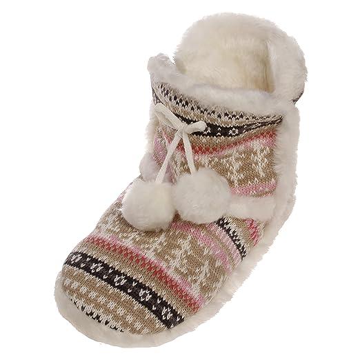 5836113c637d Amazon.com  Emmalise Women s Slipper Boots Indoor Lounge Fur Shoes Fur Boots  for women  Clothing