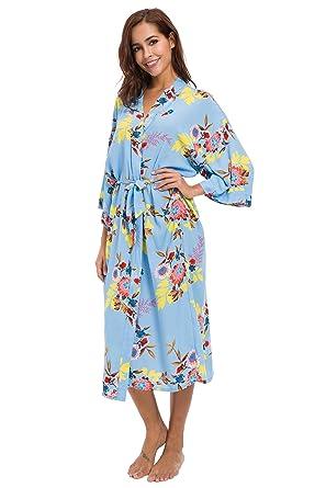 503a0705e0 Robe Wedding Bride Robe Women Robe Cotton Robe Long Style Sex Women Robe  (Blue)