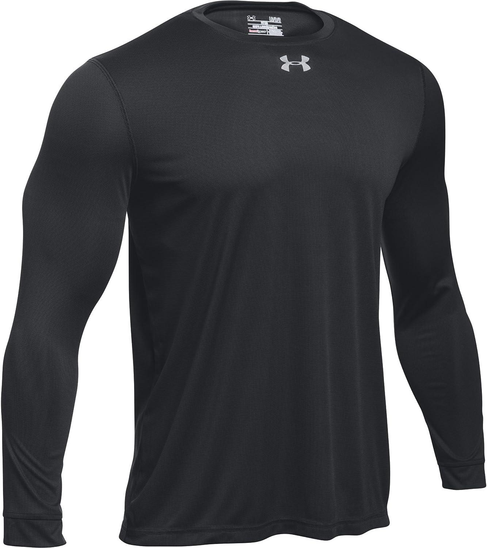 Medium, Black-Metallic Silver Under Armour Mens UA Locker 2.0 Long Sleeve Shirt