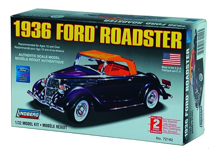 Amazon Com Lindberg 1936 Ford Roadster 1 32 Scale Plastic Model Car