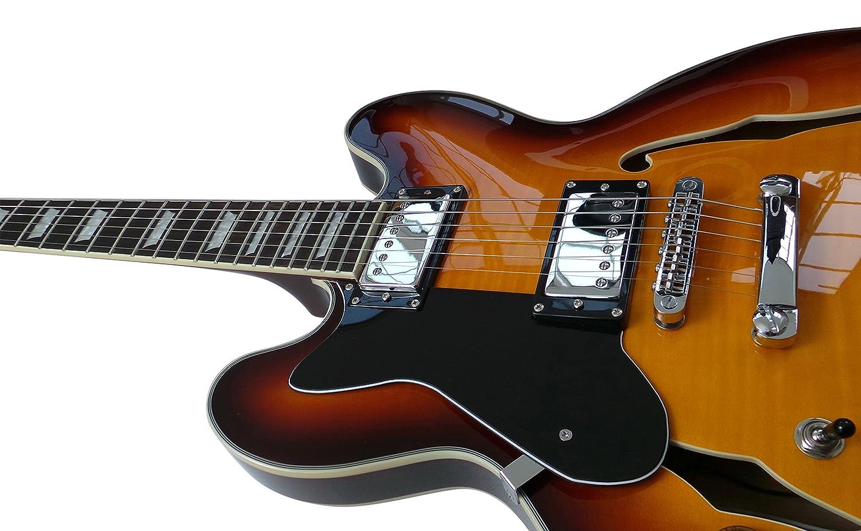Zurdos ES-335 Semi Pack de guitarra eléctrica, hueca cuerpo mejor ...