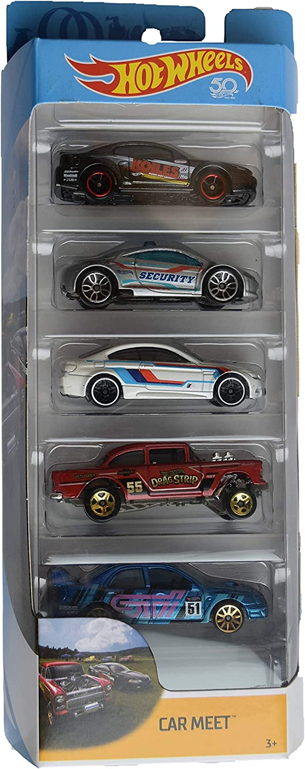 Hot Wheels 1:64 Scale 5 Pack Car Meet 50th Anniversary