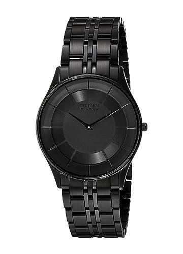 Citizen AR3015-53E - Reloj de Cuarzo para Hombre, Correa de Acero Inoxidable Color Negro: Amazon.es: Relojes