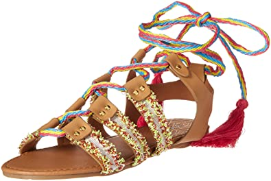 3cfc9c07d236d Qupid Women s lace up Sandal Flat