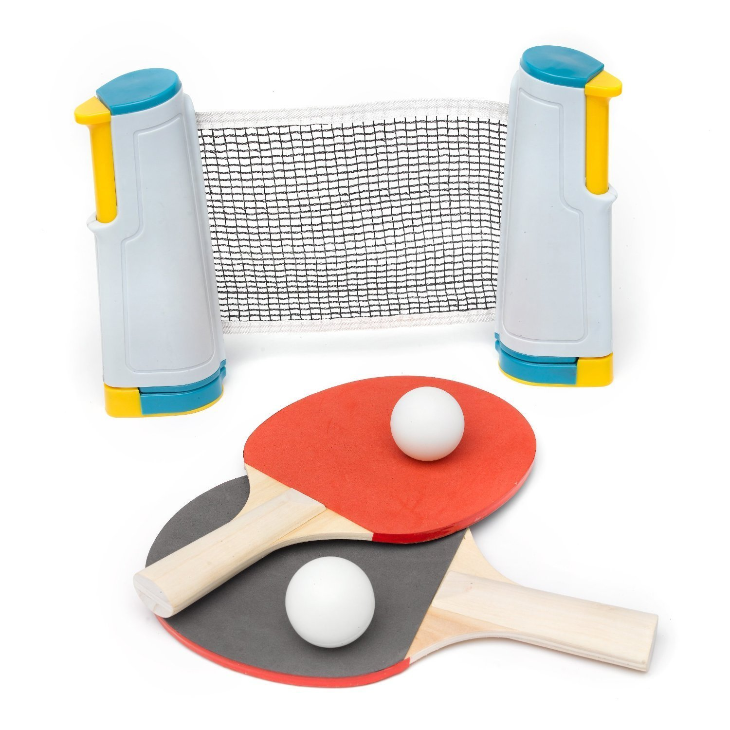 A to Z Kids' Retractable Table Tennis Set, Multicoloured, One Size 06368