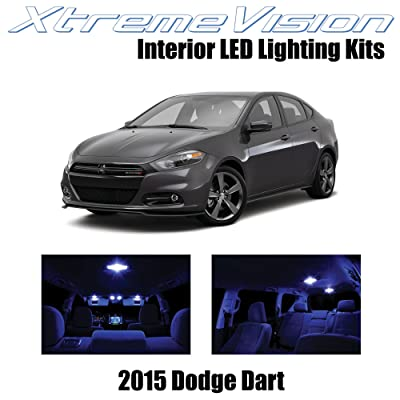 Xtremevision Interior LED for Dodge Dart 2015+ (10 Pieces) Blue Interior LED Kit + Installation Tool: Automotive